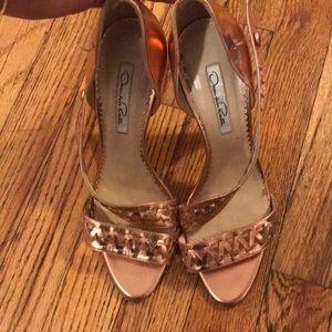 Oscar de la renta rose gold heels size 38